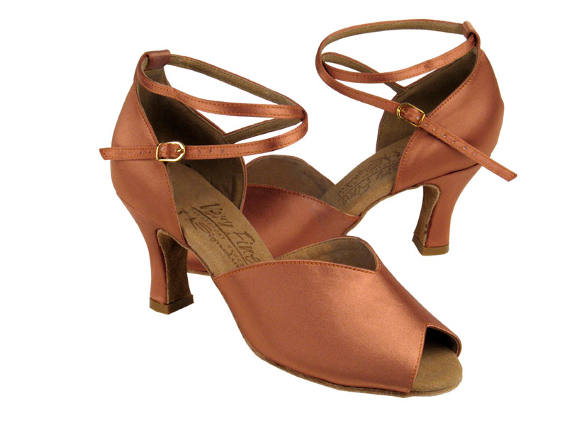 Ladies' Latin, Rhythm & Salsa - Very Fine Signature - S2801 - Tan Satin