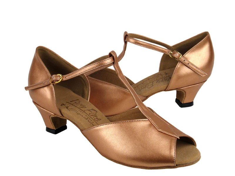 Ladies' Practice & Cuban heel - Very Fine Signature - S2802 - Copper Nude Leather