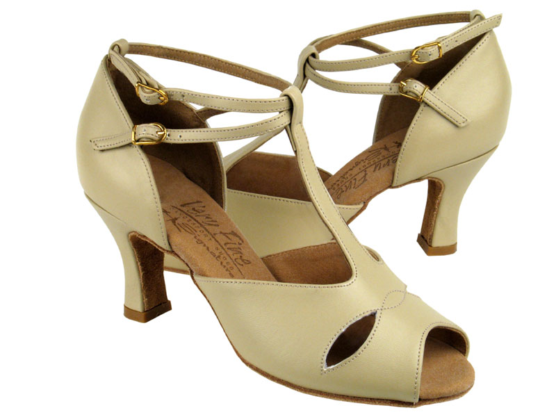Ladies' Latin, Rhythm & Salsa - Very Fine Signature - S2803 - Beige Leather
