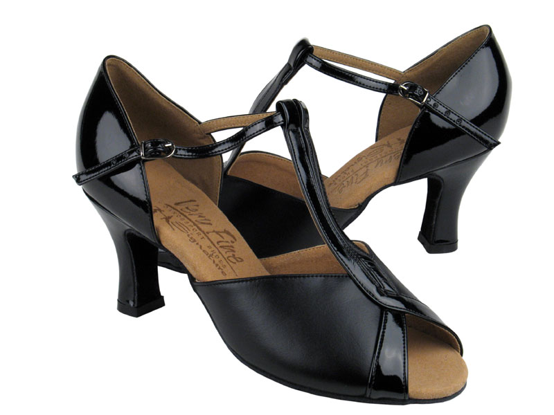 Ladies' Latin, Rhythm & Salsa - Very Fine Signature - S2804 - Black Leather & Black Patent