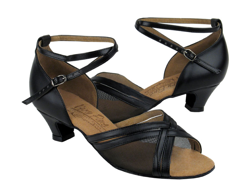 Ladies' Practice & Cuban heel - Very Fine Signature - S9204 - Black Leather