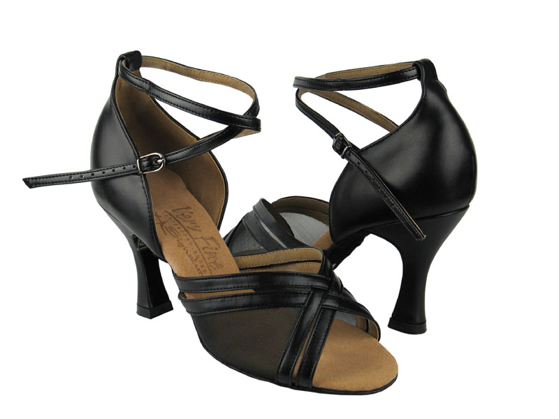Ladies' Latin, Rhythm & Salsa - Very Fine Signature - S9204 - Black Leather