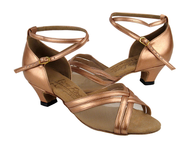 Ladies' Practice & Cuban heel - Very Fine Signature - S9204 - Copper Nude Leather