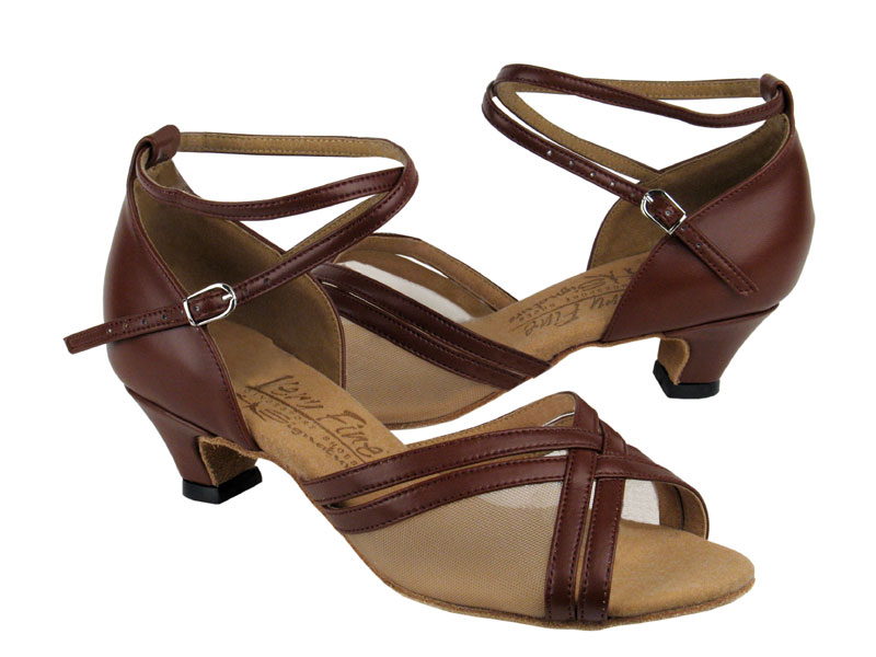 Ladies' Practice & Cuban heel - Very Fine Signature - S9204 - Dark Tan Leather