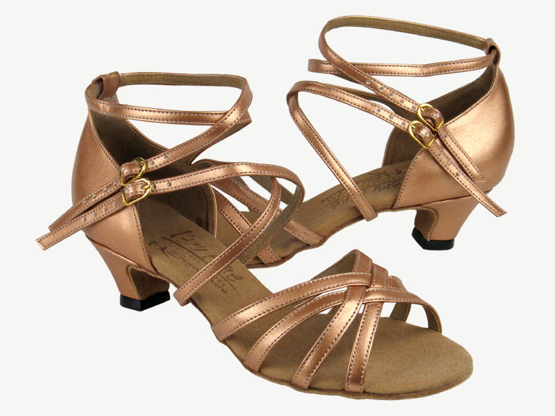 Ladies' Practice & Cuban heel - Very Fine Signature - S9206 - Copper Nude Leather