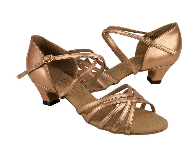 Ladies' Practice & Cuban heel - Very Fine Signature - S9216 - Copper Nude Leather