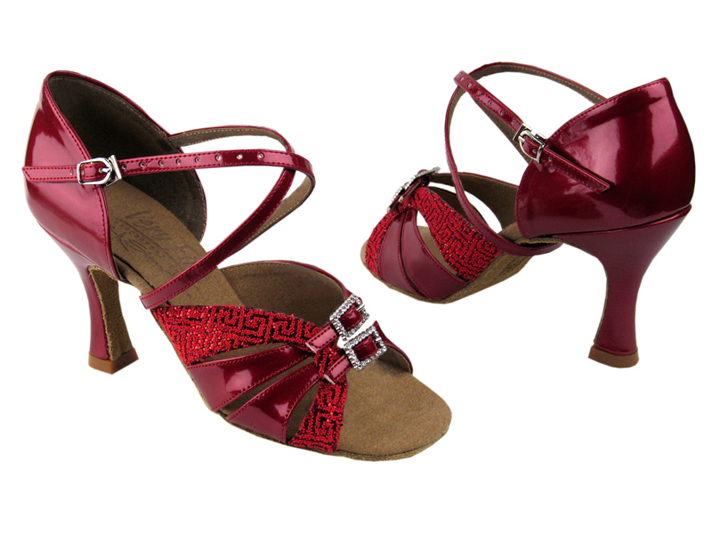 Ladies' Latin, Rhythm & Salsa - Very Fine Signature - S92307 - Red Pearl & Patent