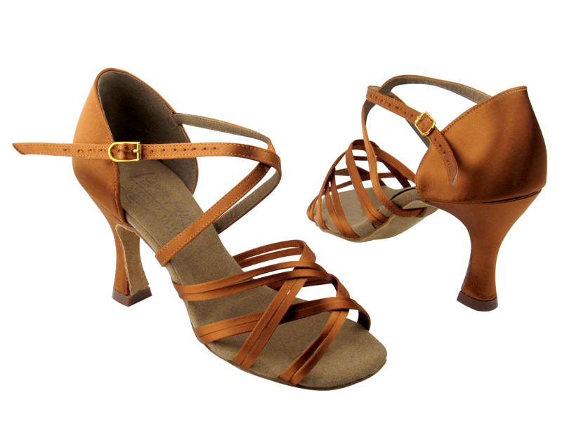Ladies' Latin, Rhythm & Salsa - Very Fine Signature - S92313 - Dark Tan Satin