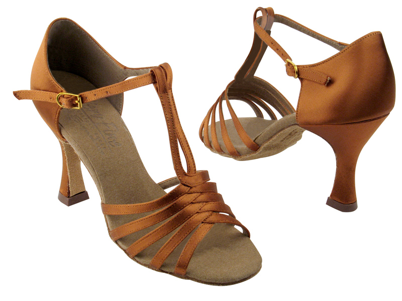 Ladies' Latin, Rhythm & Salsa - Very Fine Signature - S92319 - Dark Tan Satin