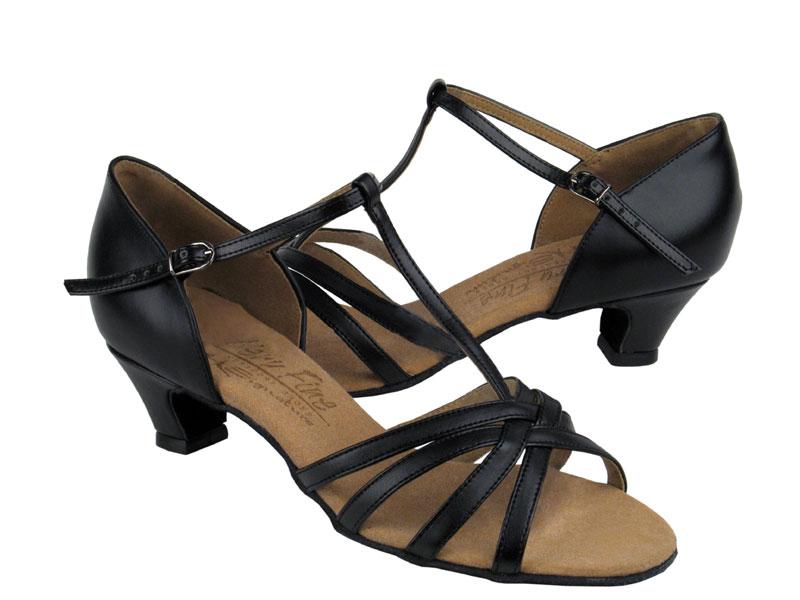 Ladies' Practice & Cuban heel - Very Fine Signature - S9235 - Black Leather