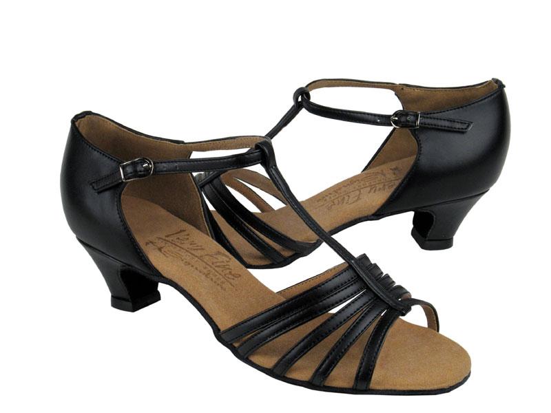 Ladies' Practice & Cuban heel - Very Fine Signature - S9273 - Black Leather