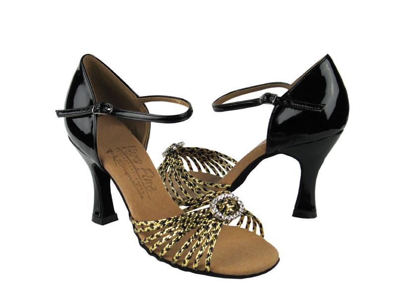 Ladies' Latin, Rhythm & Salsa - Very Fine Signature - S9283 - Black & Gold Braid