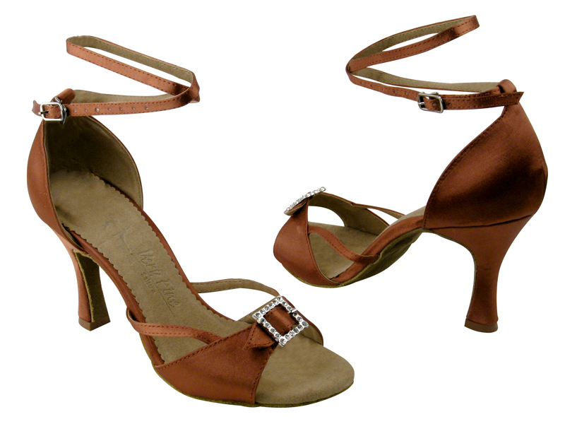 Ladies' Latin, Rhythm & Salsa - Very Fine Salsera - SERA1110 - Dark Tan Satin