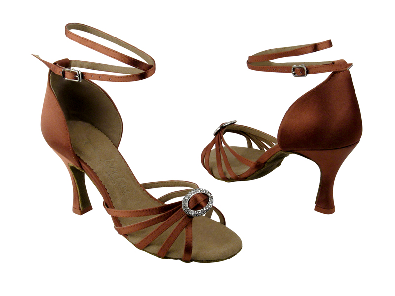 Ladies' Latin, Rhythm & Salsa - Very Fine Salsera - SERA1123 - Dark Tan Satin