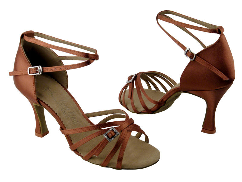 Ladies' Latin, Rhythm & Salsa - Very Fine Salsera - SERA1137 - Dark Tan Satin