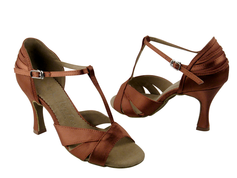 Ladies' Latin, Rhythm & Salsa - Very Fine Salsera - SERA1144 - Dark Tan Satin