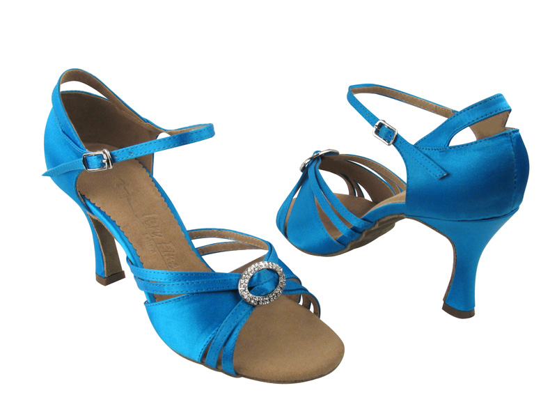 Ladies' Latin, Rhythm & Salsa - Very Fine Salsera - SERA1154 - Blue Satin