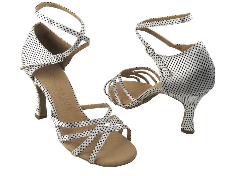 Ladies' Latin, Rhythm & Salsa - Very Fine Salsera - SERA1606 - White & Black Dots