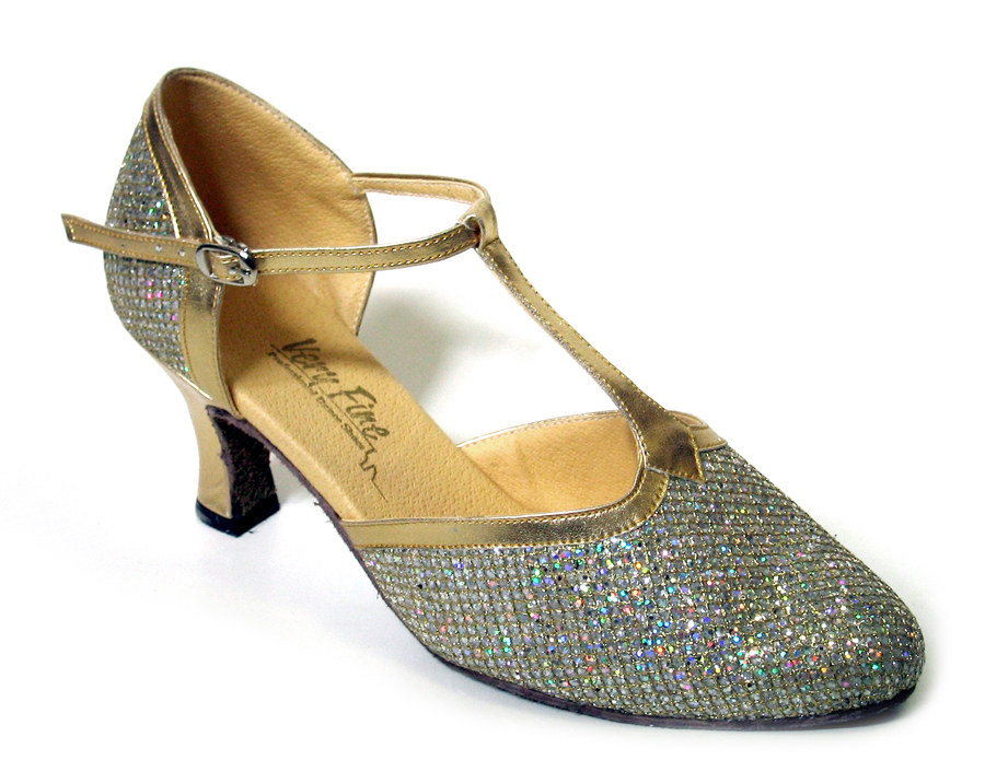 Ladies' Standard & Smooth - Very Fine Classic   - 9627 - Gold Sparklenet & Gold Trim