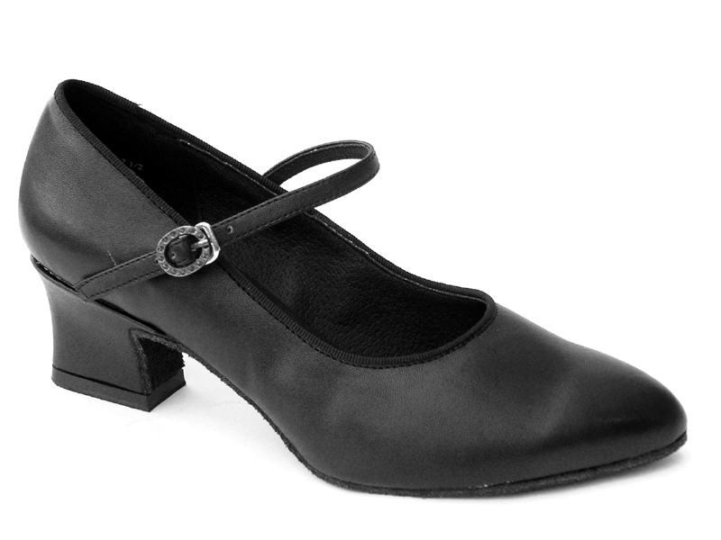 Ladies' Practice & Cuban heel - Very Fine Classic   - 1682 - Black Leather
