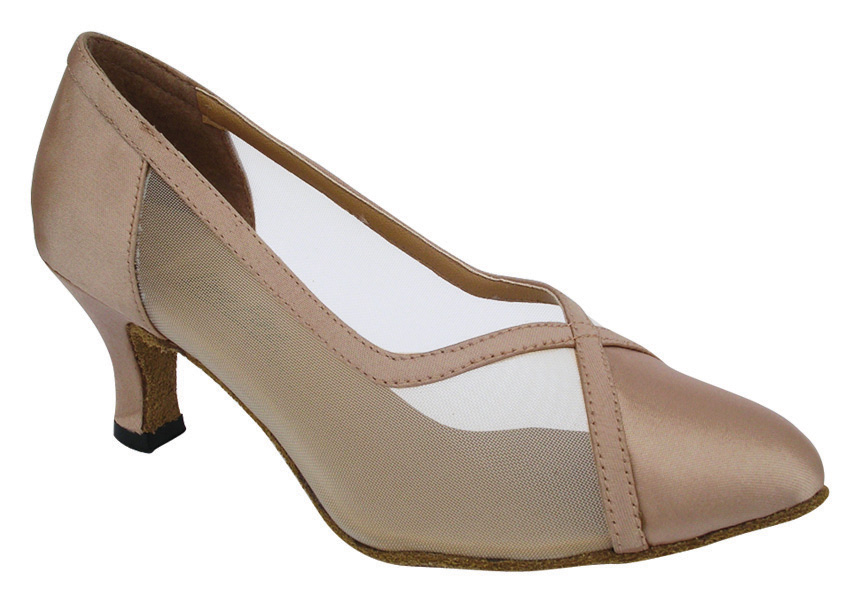 Ladies' Standard & Smooth - Very Fine Classic   - 6815 - Light Brown Satin & Flesh Mesh