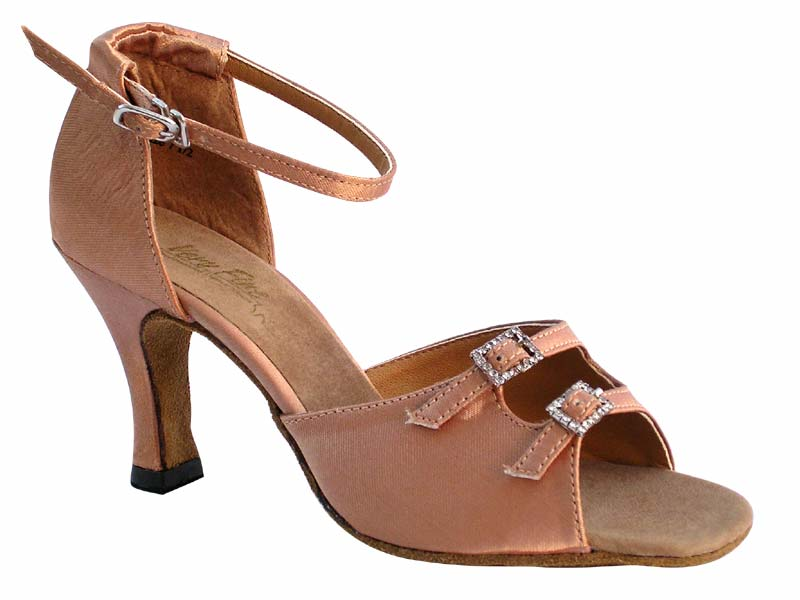 Ladies' Latin, Rhythm & Salsa - Very Fine Classic   - 1620 - Brown Satin
