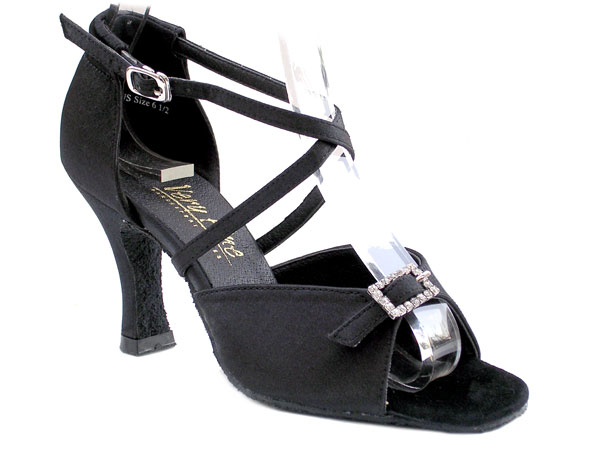 Ladies' Latin, Rhythm & Salsa - Very Fine Classic   - 1636 - Black Satin