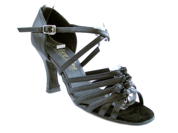Ladies' Latin, Rhythm & Salsa - Very Fine Classic   - 1650 - Black Leather