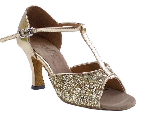 Ladies' Latin, Rhythm & Salsa - Very Fine Classic   - 5004 - Gold Sparkle