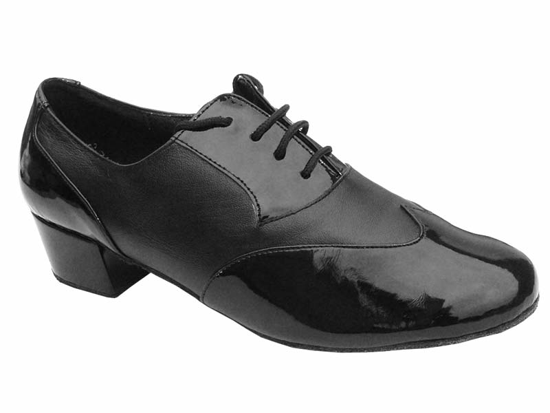 Men's Latin & Rhythm - Very Fine Classic - M100101 - Black Patent & Black Leather