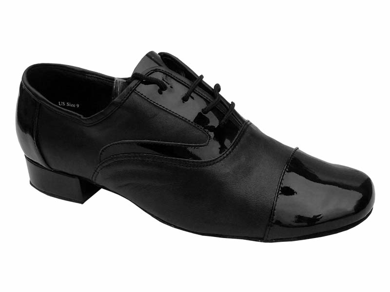 Men's Standard & Smooth - Very Fine Classic - 916102 - Black Patent & Black Leather