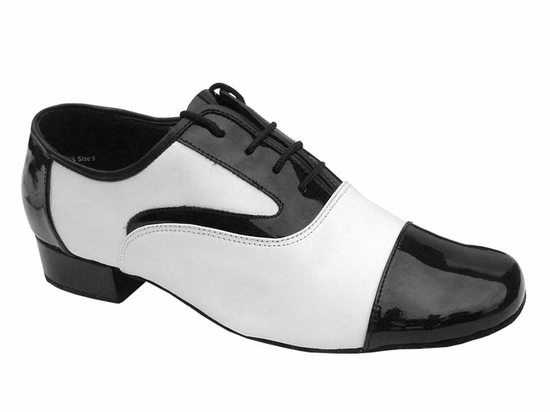 Men's Standard & Smooth - Very Fine Classic - 916102 - Black Patent & White Leather