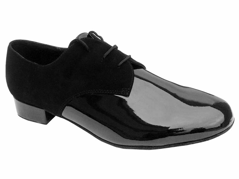 Men's Standard & Smooth - Very Fine Classic - 916103 - Black Nubuck & Black Patent