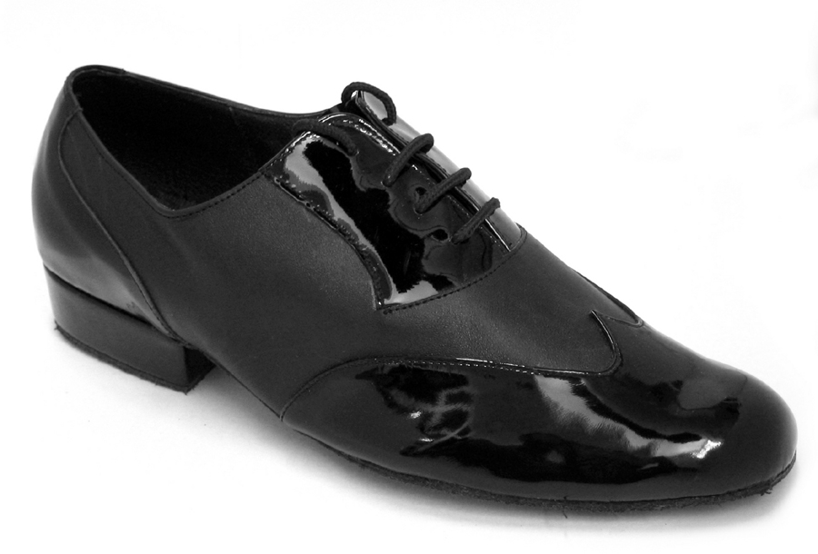 Men's Standard & Smooth - Very Fine Classic - M100101 - Black Patent & Black Leather