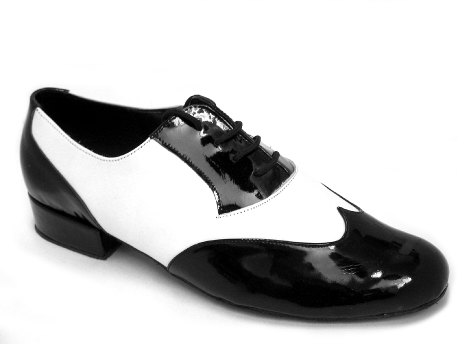 Men's Standard & Smooth - Very Fine Classic - M100101 - Black Patent & White Leather