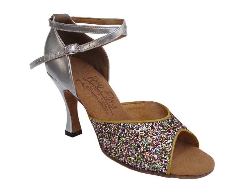 Ladies' Latin, Rhythm & Salsa - Very Fine Signature - S9220 - Rainbow Sparkle & Silver Leather