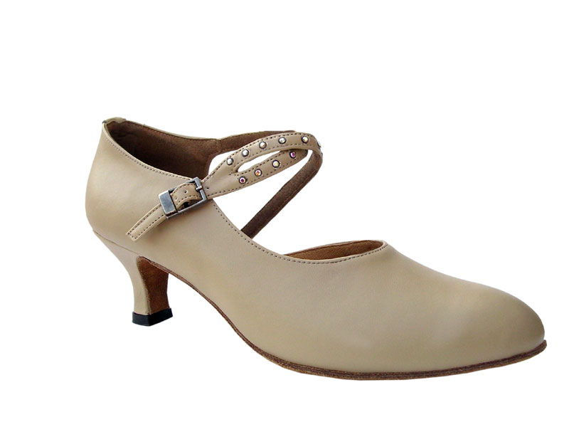 Ladies' Standard & Smooth - Very Fine Signature - S9122 - Beige Leather