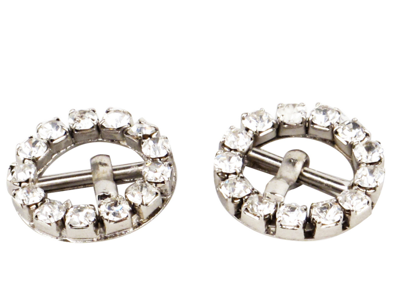 Rhinestone Buckles in silver color