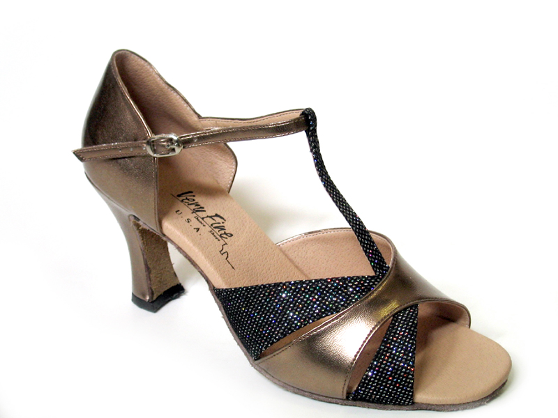 6016 Copper Leather & Blk Sparklenet