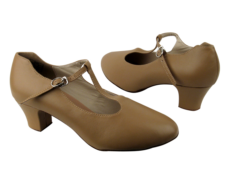 Ladies' Character Shoes - VF Competitive Dancer - CD1111 - Beige Leather