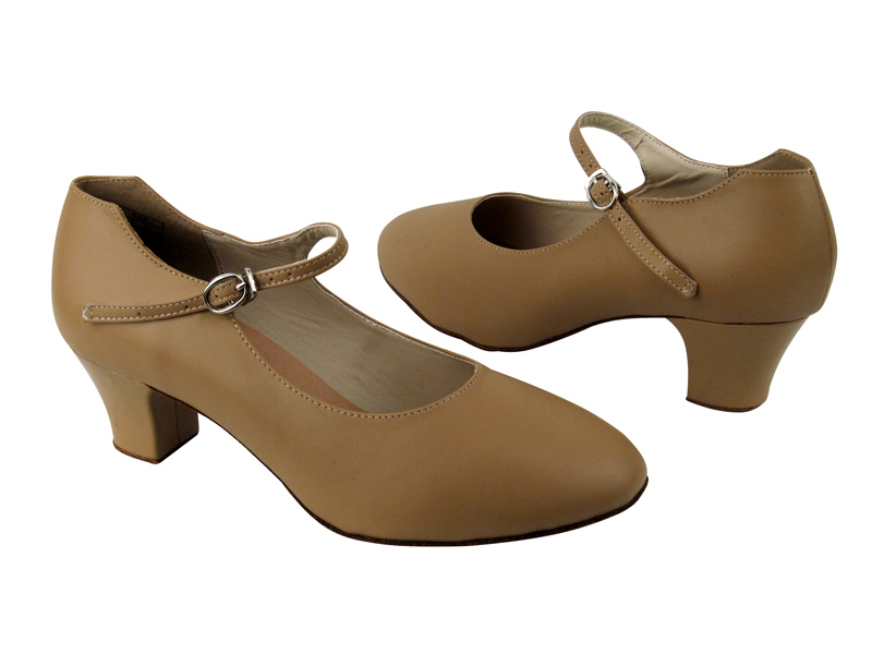Ladies' Character Shoes - VF Competitive Dancer - CD1112 - Beige Leather