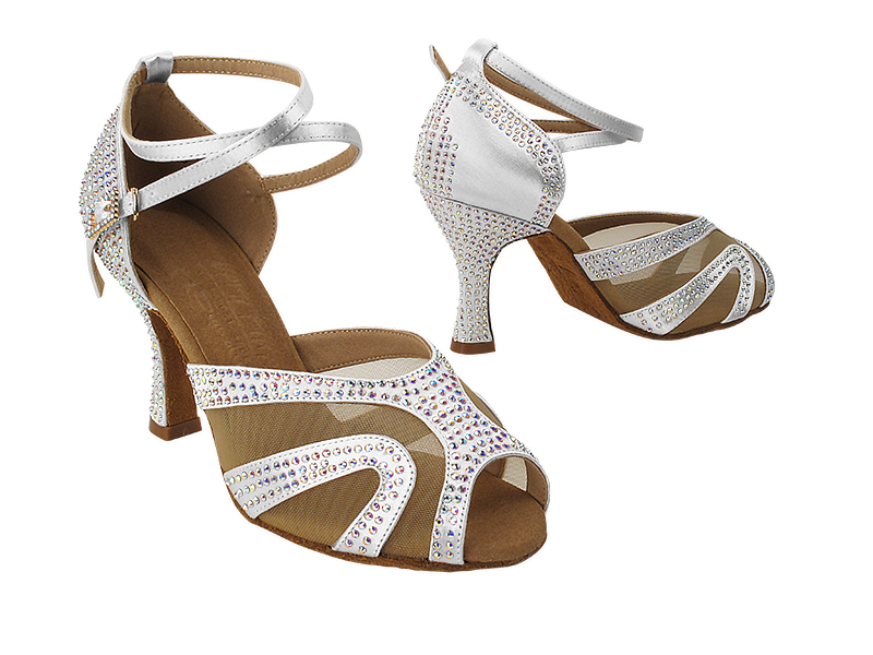 S1005CC 303 White Satin with (YQG) 3 inch Heel in the photo