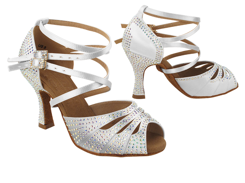 S1007CC 303 White Satin with (YQG) 3 inch Heel in the photo