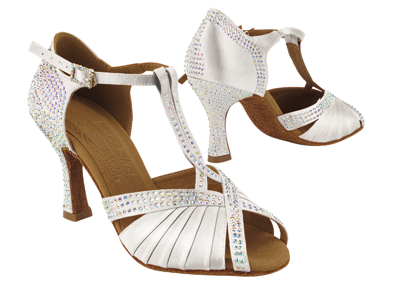 S1010CC 303 White Satin with (YQG) 3 inch Heel in the photo