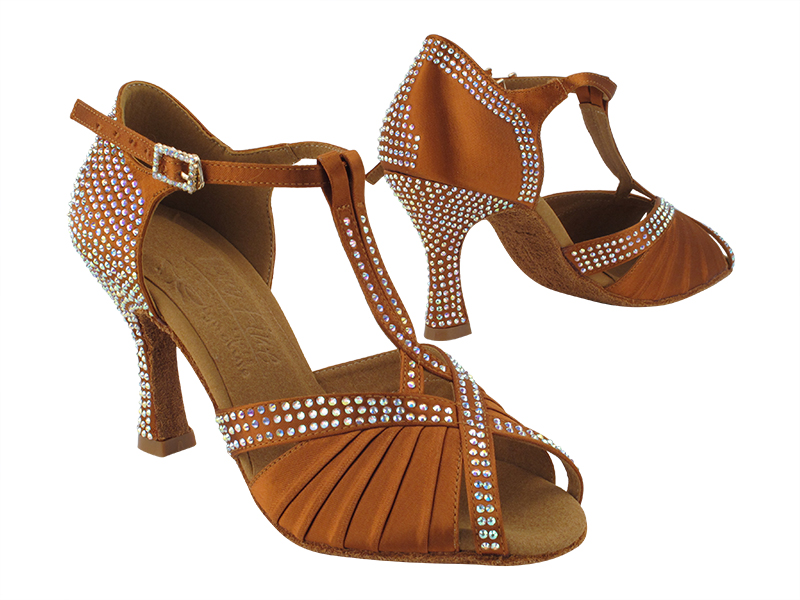 S1010CC Copper Tan Satin with 3 inch Heel (YQG) in the photo