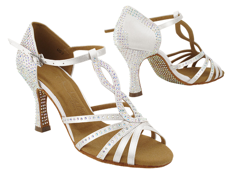S1016CC 303 White Satin with (YQG) 3 inch Heel in the photo