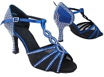 SERA1692CC Dark Blue Satin_Black Mesh