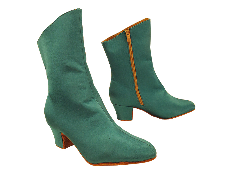VFBoot PP205A Ankle Bootie 123 Teal Satin with 1.6