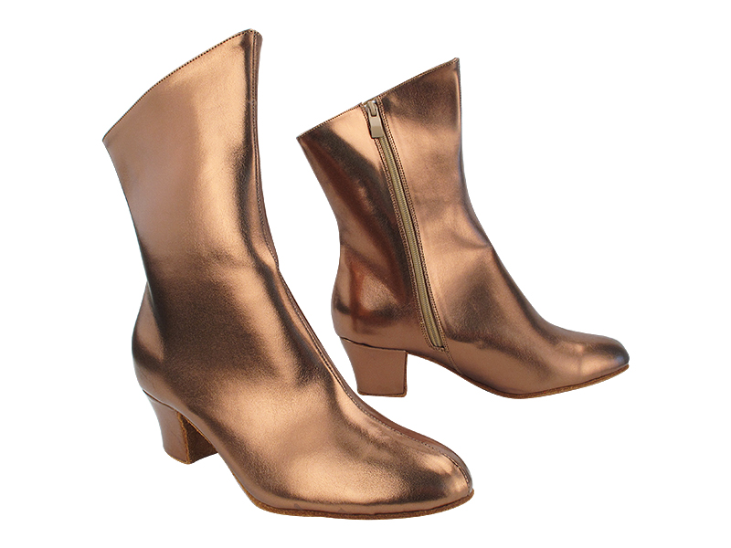 VFBoot PP205A Ankle Bootie Dark Tan Gold with 1.6