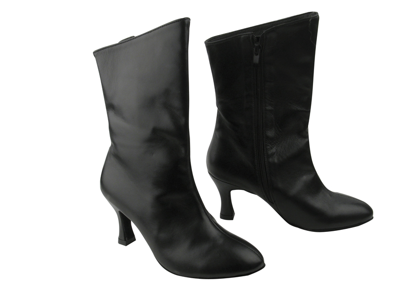 VFBoot PP205A Ankle Bootie Black Leather with 2.75